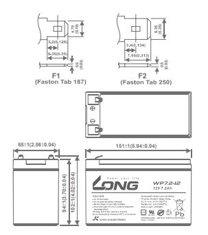 LONG 12V-7_2Ah, WP7_2-12, F2