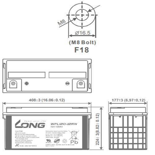 LONG 12V-120AH, WPL120-12RN